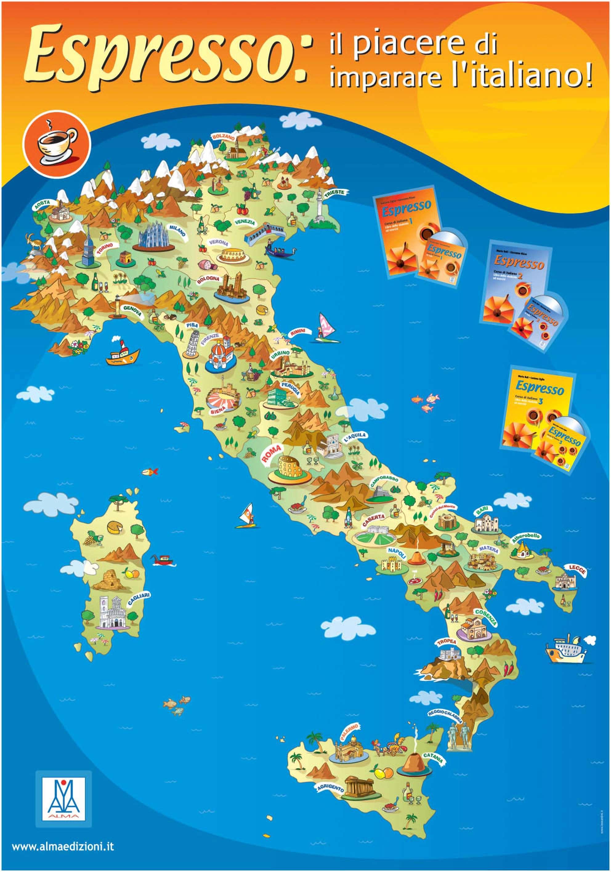 cartina dei monumenti italiani